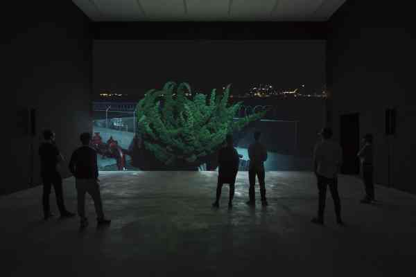 "Cyprien Gaillard, Nightlife (2015), 3D motion picture, DCI DCP 14:28 min, Copyright Cyprien Gaillard, Courtesy Sprüth Magers, (installation view, Cyprien Gaillard: ""Where Nature Runs Riot"", Sprüth Magers Berlin, May 2 - July 18, 2015)"