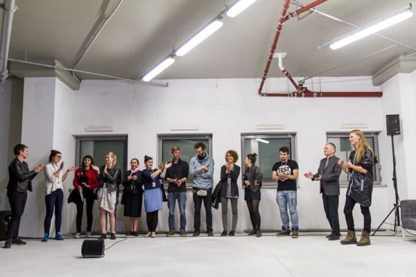 Award winners and organisers, The 16th Media Art Biennale WRO, Wrocław, 2015