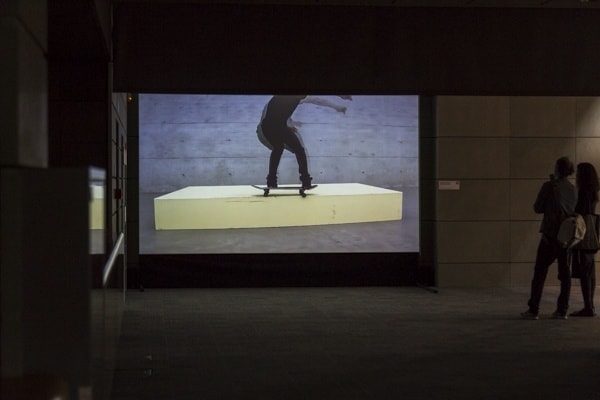 Kay Walkowiak (AT), Minimal Vandalism, video, 2013, 3:49, photo Contemporary Lynx, The 16th Media Art Biennale WRO, Wrocław, 2015