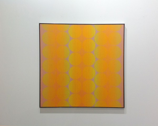 Julian Stanczak, Synchronized VII, acrylic on canvas, Mitchell-Innes&Nash, photo Contemporary Lynx
