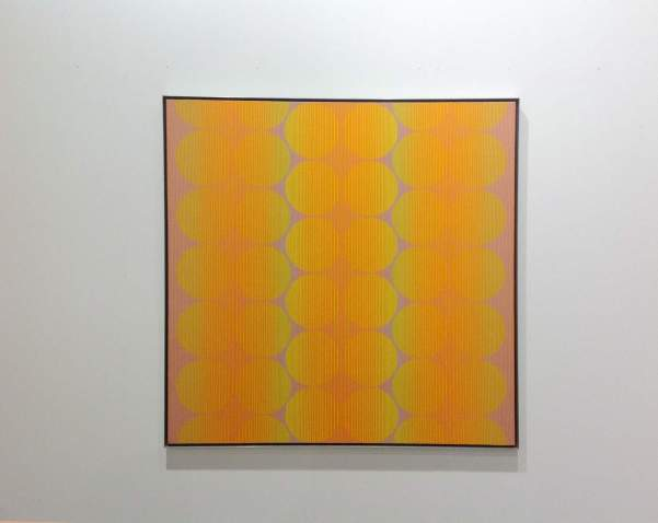 Julian Stanczak, Synchronized VII, acrylic on canvas, Mitchell-Innes&Nash, photo Contemporary Lynx