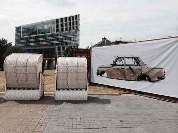 Waste Index (installation shot), Łódź Film School, Container City, Hamburg Triennial of Photography, Hamburg | copyright: Ewa Ciechanowska