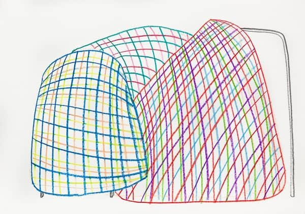 Alicja Bielawska drawing from the Geometry for Everyday Use series, 2015, courtesy of the artist and Starter Gallery, Warsaw
