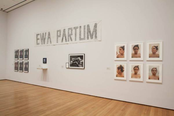 Ewa Partum Installation view of Transmissions: Art in Eastern Europe and Latin America, 1960–1980 at The Museum of Modern Art, New York (September 5, 2015–January 3, 2016). Photo by Thomas Griesel