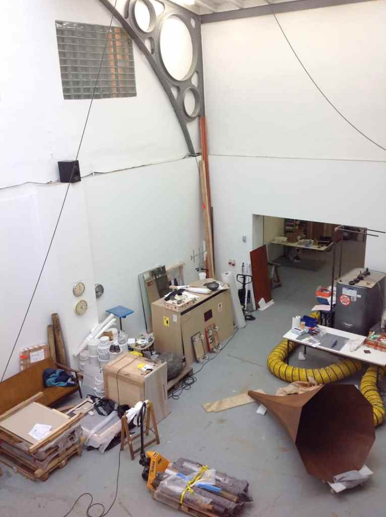 Alicja Kwade's Studio, Berlin 2015, photo Contemporary Lynx