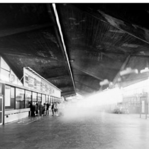 Michał Łuczak, Katowice Railway Station, from the series 'Brutal, gelatin silver print, 55 x 70 cm, unframed