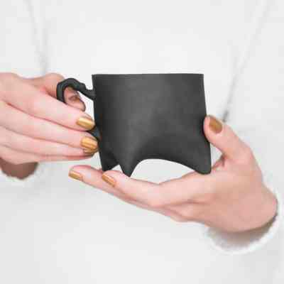 Black Triple Cup Ende ceramics