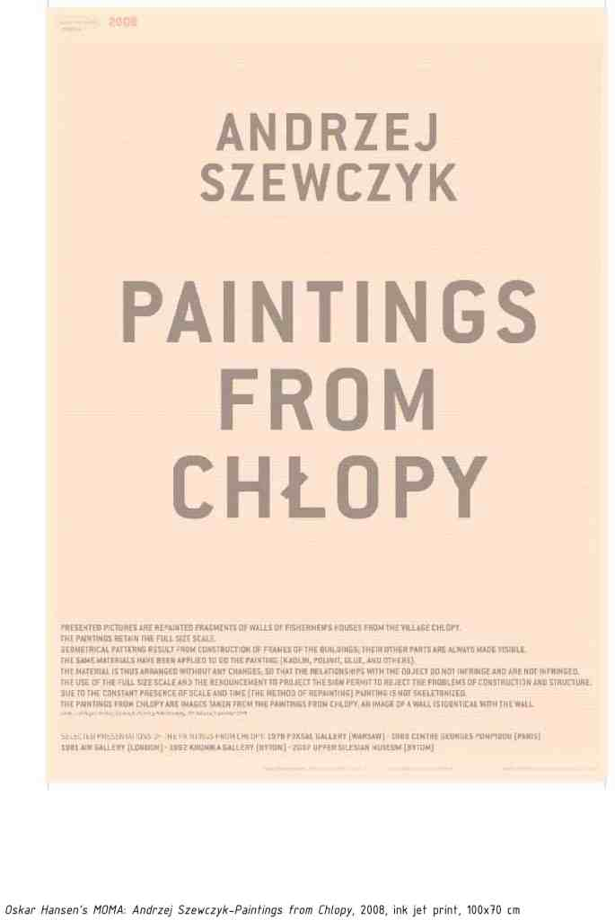 Yane Calovski and Hrsitina Ivanosk 'Oskar Hansen's MOMA