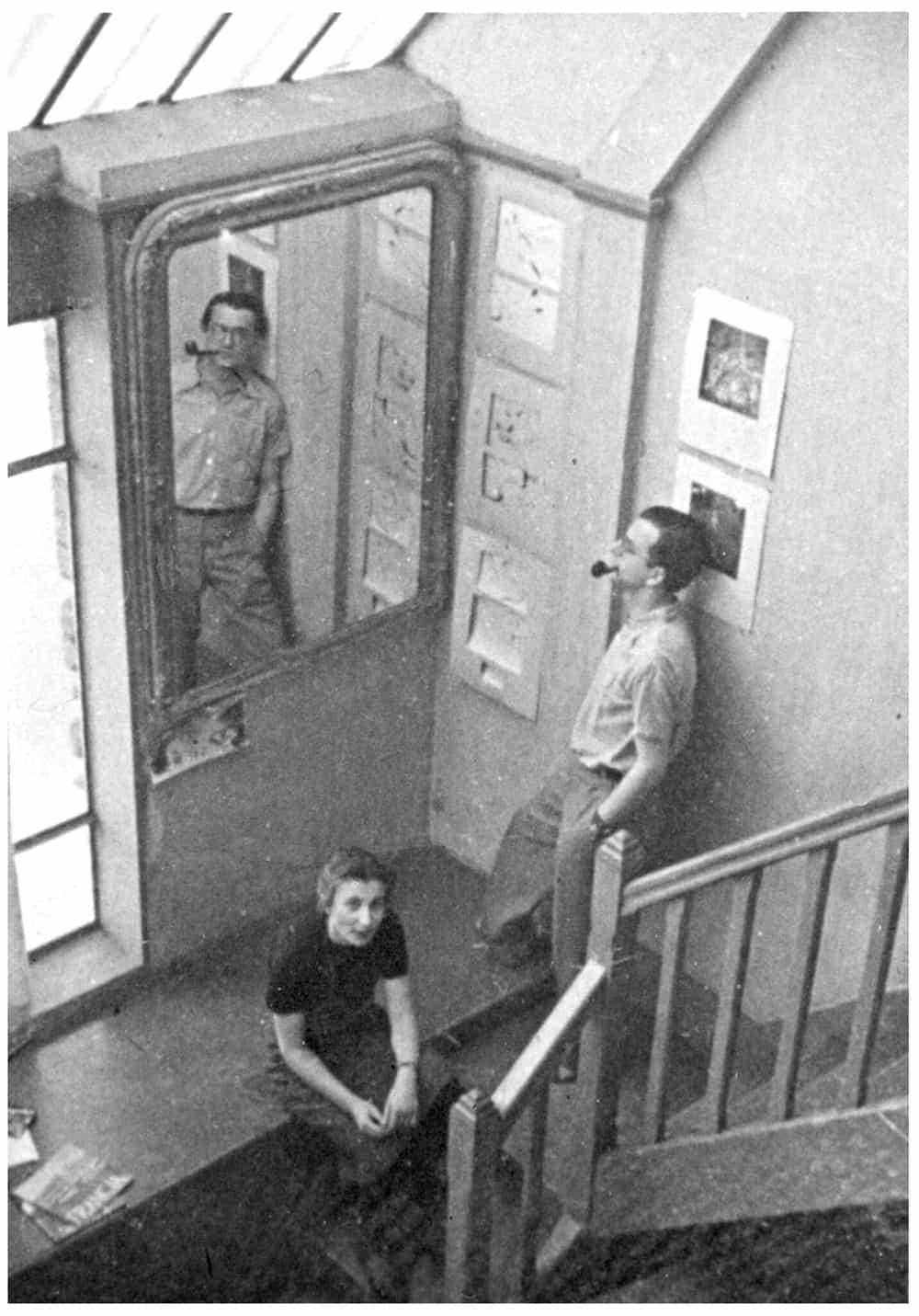 Franciszka and Stefan Themerson in their studio, Paris, 1938