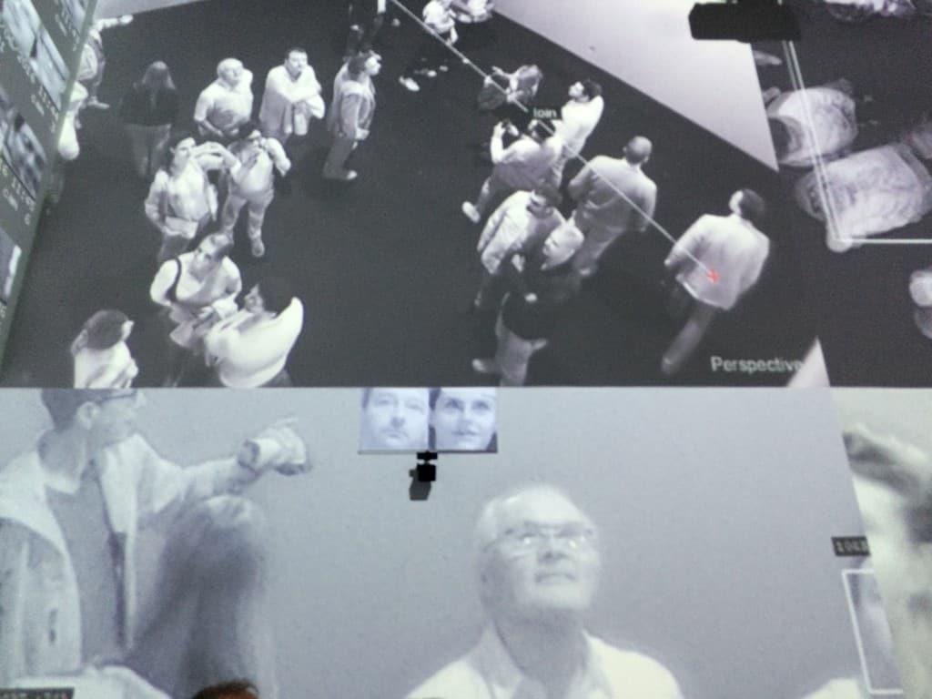 Rafael Lozano-Hemmer and Krzysztof Wodiczko, Art Basel 2016, photo Contemporary Lynx