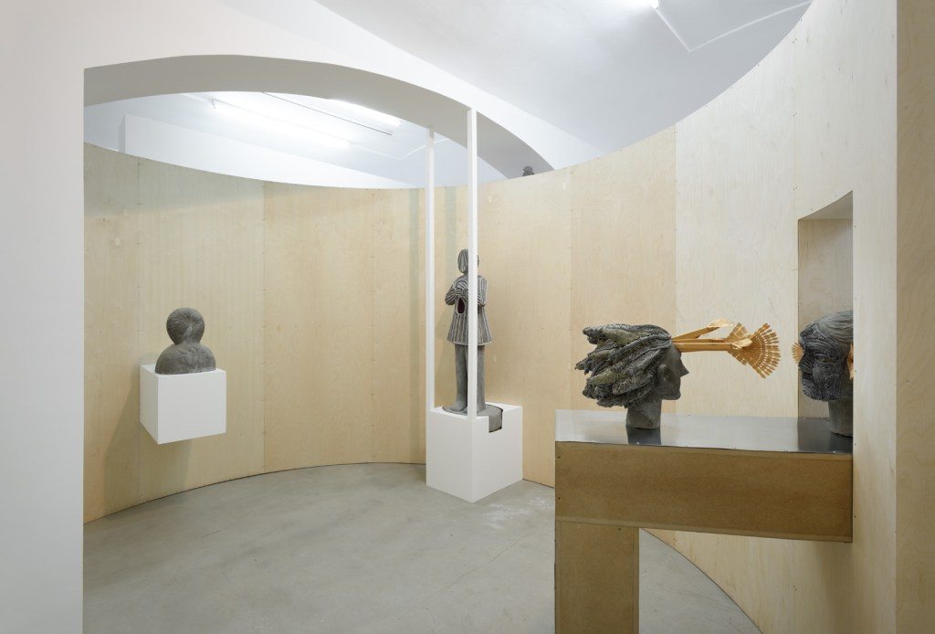 'Interpreter I & Anna Hulačova', exhibition view, hunt kastner, 2015, photo courtesy the artist and hunt kastner