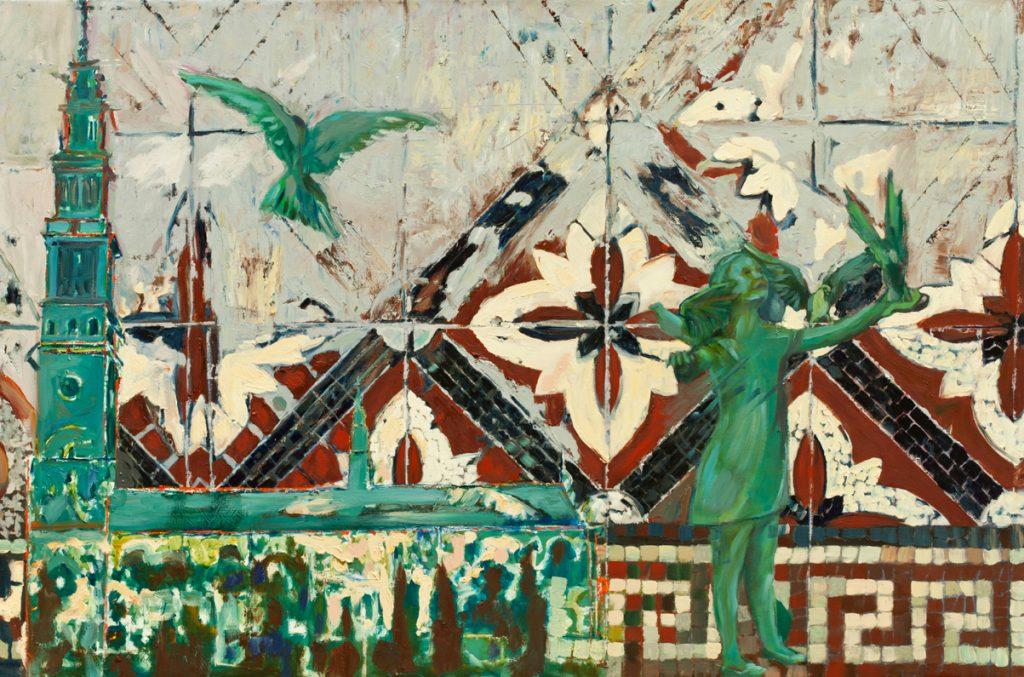 Bartosz Frączek, My city Czestochowa, Oil painting, 150*100cm,2014