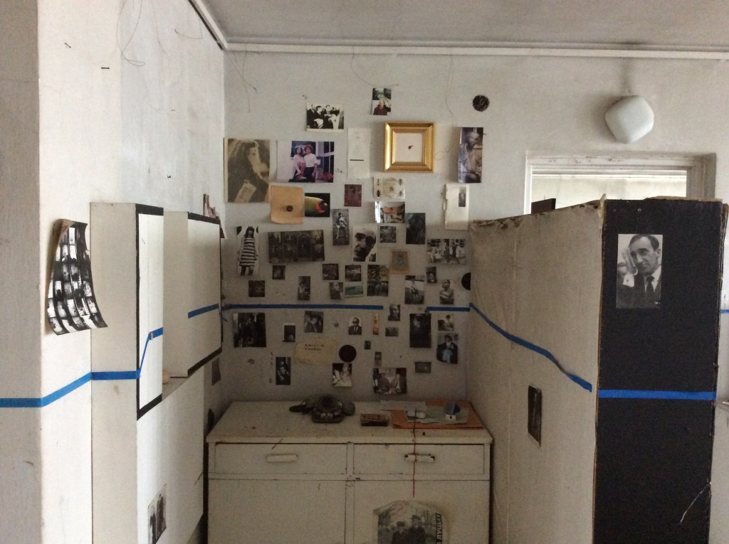 A collection of photographs and postcards. Edward Krasiński's studio apartment, Warsaw, Poland, 2016