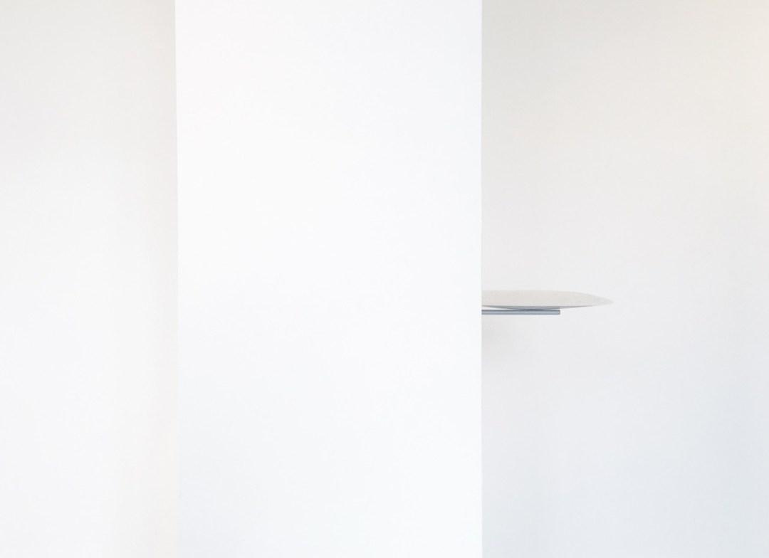 Agata Madejska, Retouch l-60x60, concrete, steel, 40 x 40 cm, 2016, Kunstraum, Hamburg