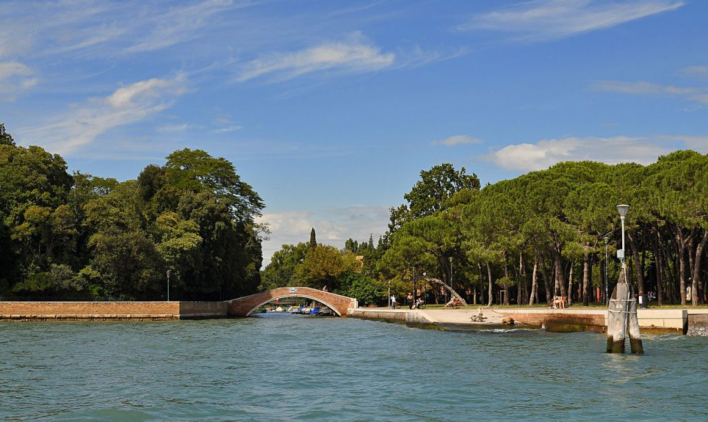 The Giardini in Venice, one site of the Biennale's main show, Wikimedia