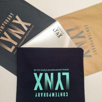 Contemporary Lynx cotton bag