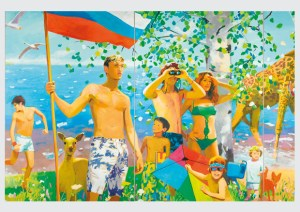 Vladimir Dubossarsky Alexander Vinogradov, What the Homeland Begins With, 2006, Öl auf Leinwand, 295 × 780 cm, Auschnitt