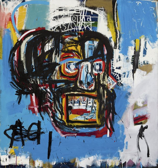 Untitled, 1982, by Jean-Michel Basquiat, Photograph AP