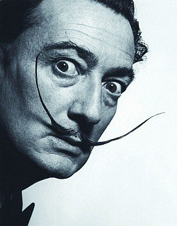 Dalí's awesome moustache