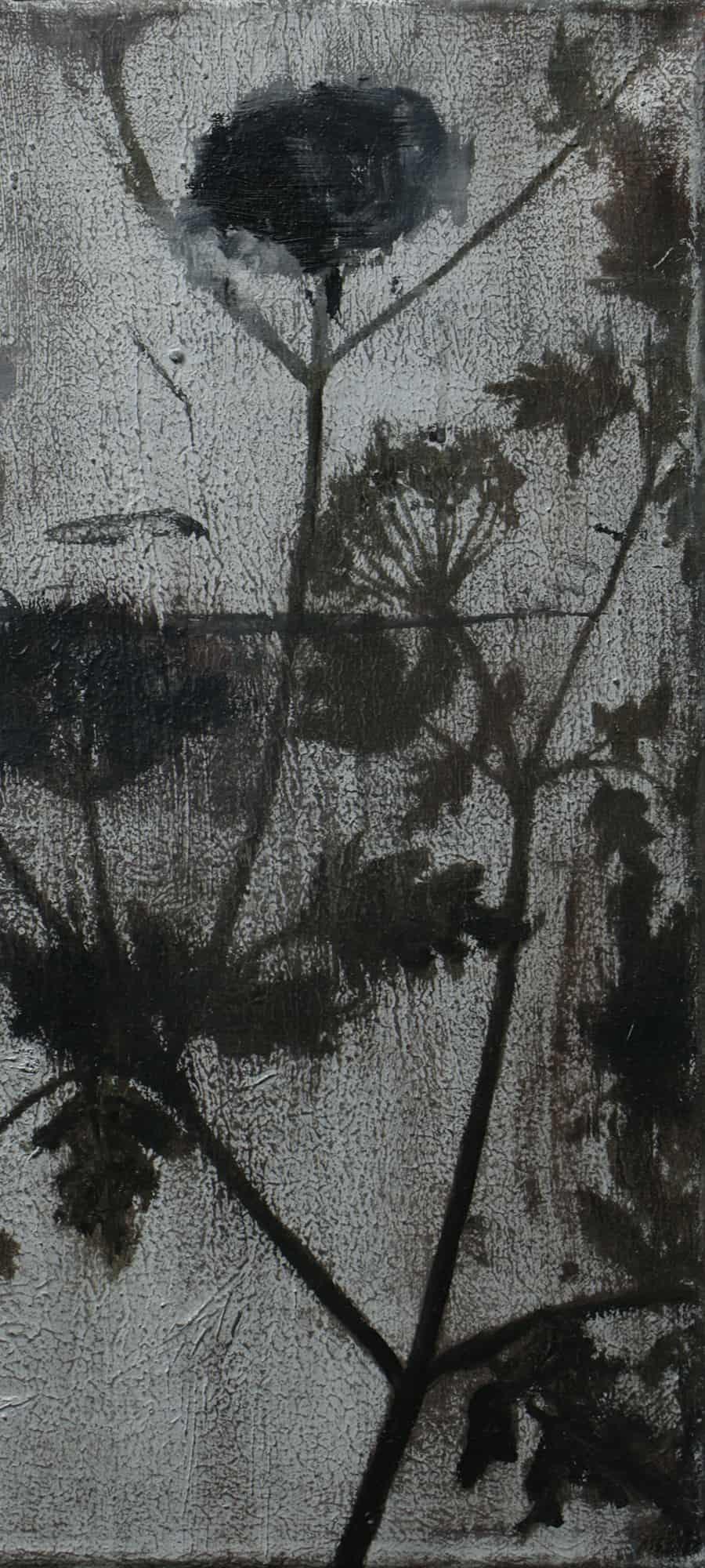 Paweł Baśnik, Hemlock (detail), oil and acril painting on canvas, 40x30cm, 2017