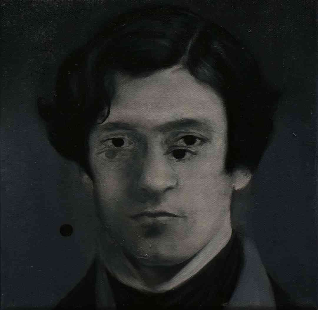 Paweł Baśnik, K.Z. 1888-1921, oil and acril painting on canvas, 25x25cm, 2017