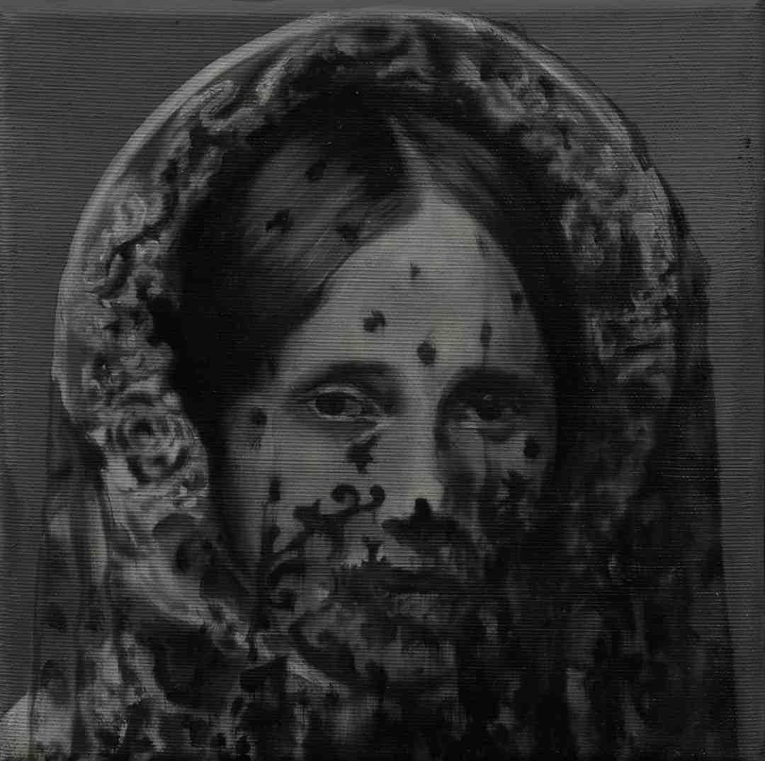 Paweł Baśnik, L.M. 1832-1902, oil and acril painting on canvas, 25x25cm, 2017