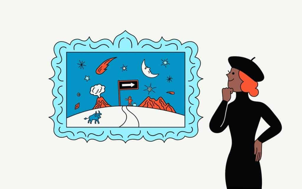 Illustration by Tomi Um for Artsy