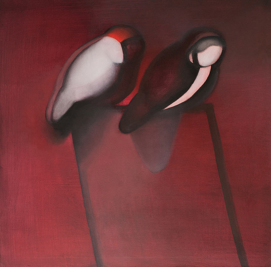 Anna Kott, Soulmates, 2017, acrylic/ oil on canvas, 90 x 90 cm
