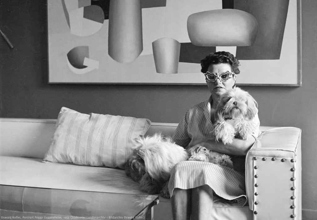 Portrait of Peggy Guggenheim, 1955Courtesy of Südtiroler Landesarchive, Bildarchive Oswald Kofler