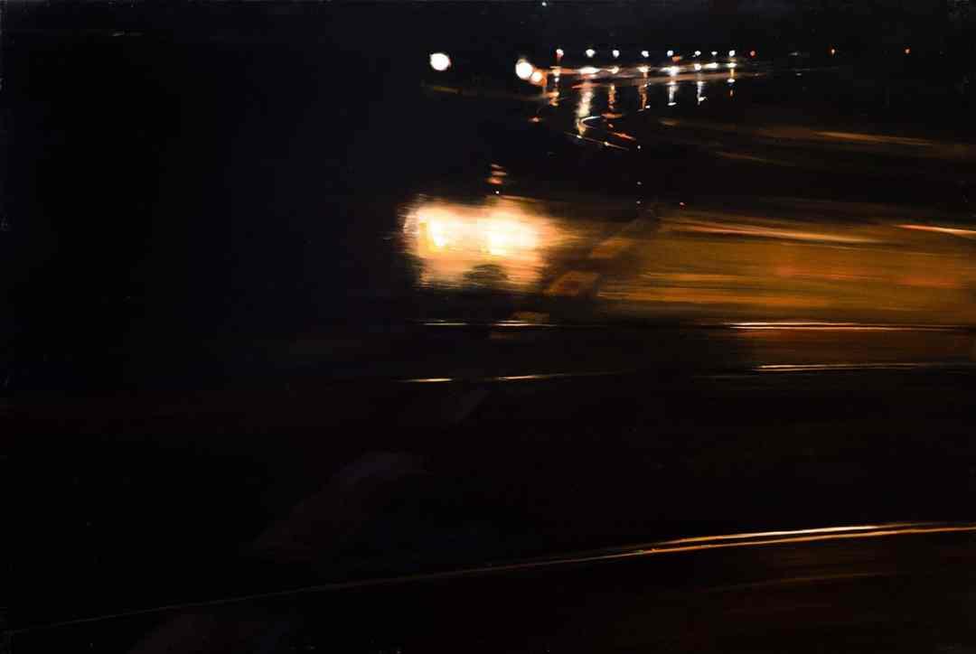 Paweł Słota, Cityscape XXIII, oil canvas, 100x150cm, 2013