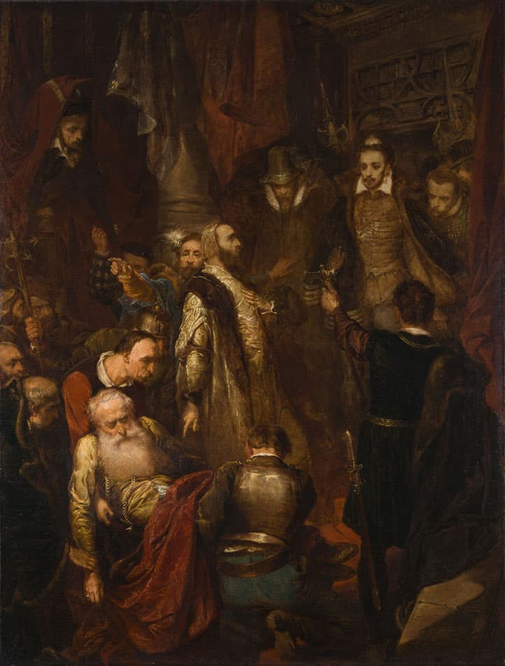Jan Matejko, Killing of Wapowski During the Coronation of Henryk Walezy, 1861, oil on canvas, 132.5 x 101 cm