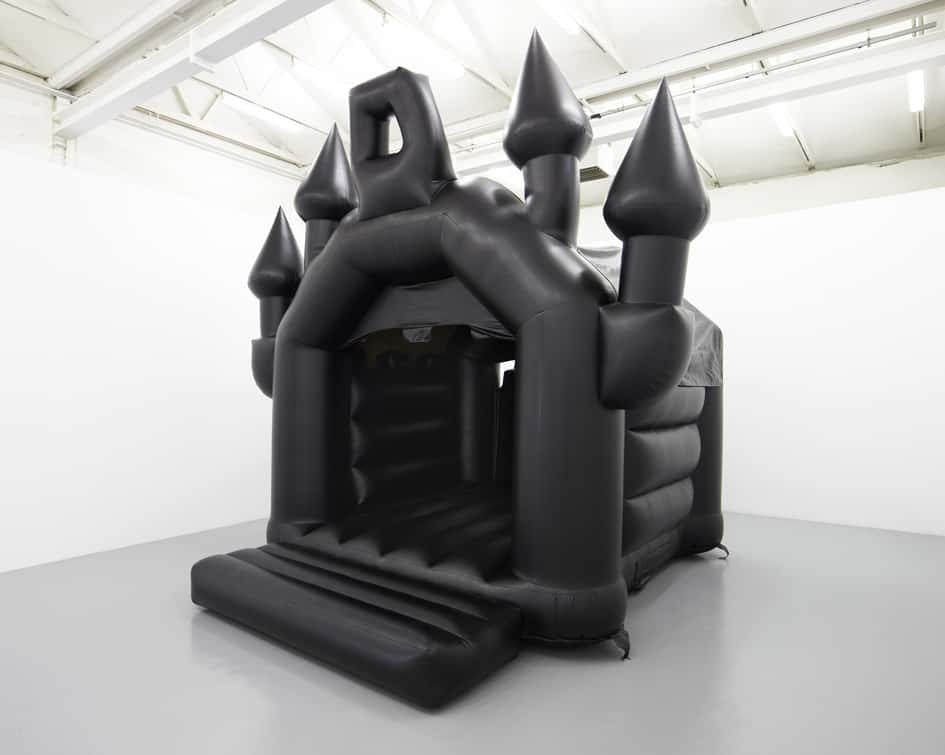 Tom Dale, Department of the Interior (2014), Black Leatherette inflatable castle and fan. 6 x 5.5 x 5m, Courtesy Copperfield London.
