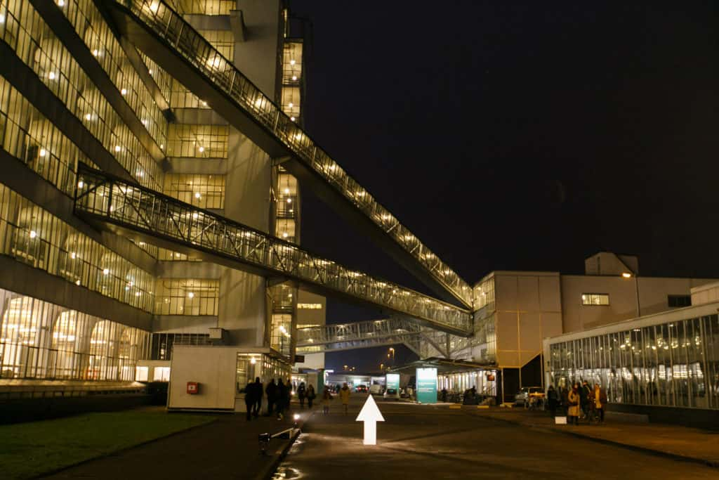 Art Rotterdam by night, Van Nelle Factory, Photo: Geert Broertjes, Courtesy Art Rotterdam.