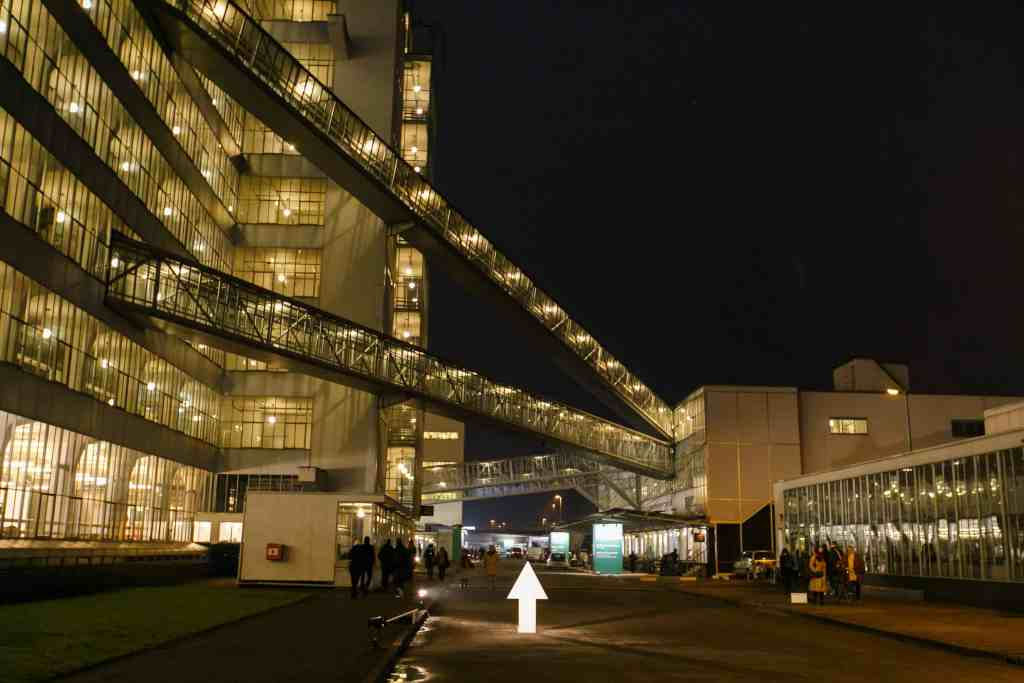 Art Rotterdam by night, Van Nelle Factory, Photo: Geert Broertjes, Courtesy Art Rotterdam.