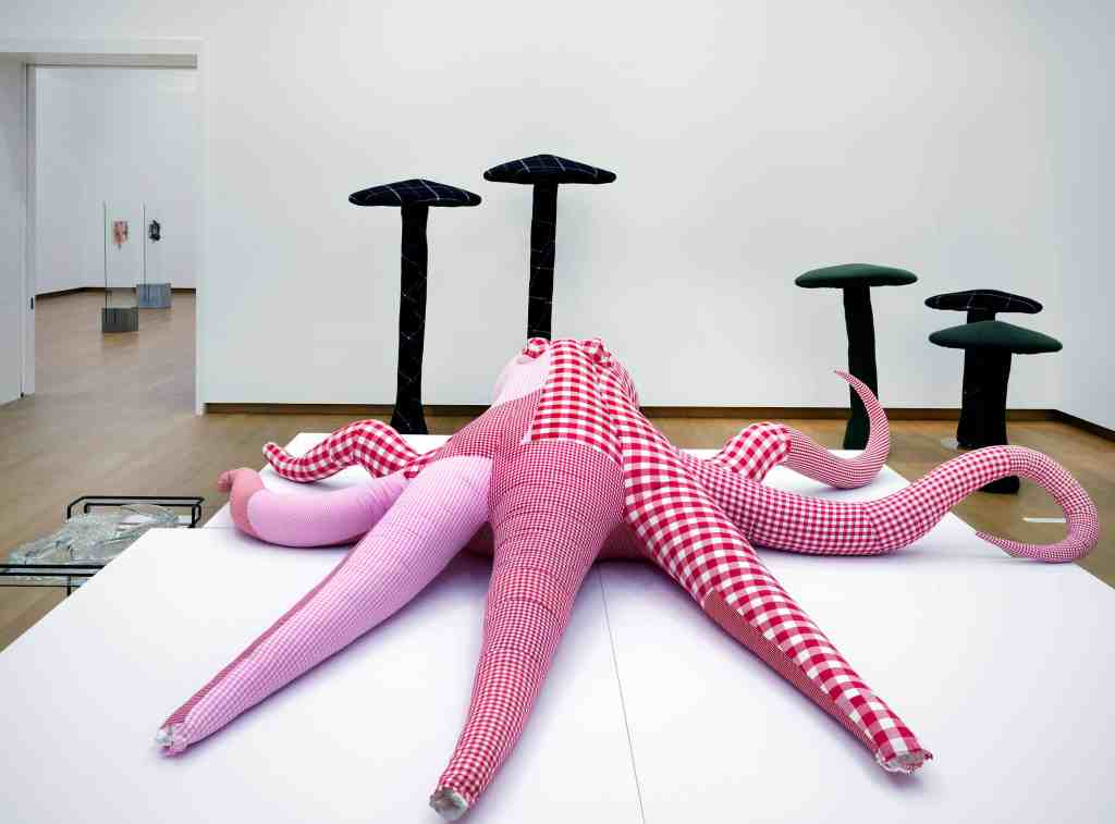 Cosima von Bonin, installation view Jump into the Future - Art from the 90's and 2000's. The Borgmann Donation. Photo: Gert Jan van Rooij
