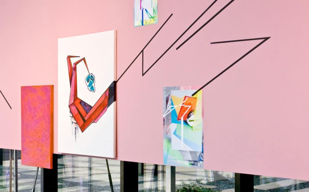 Ewa Doroszenko, Future sex based on Parade, amoureuse by Francis Picabia, painting installation, exhibition view, The Starak Family Foundation, Warsaw, 2013