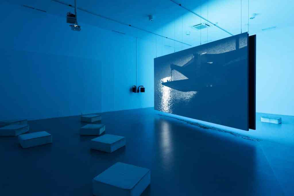 "Marta Hryniuk, ""Cold Body Shining"" installation view, Ujazdowski Castle Centre for Contemporary Art. Photo: Bartosz Górka"