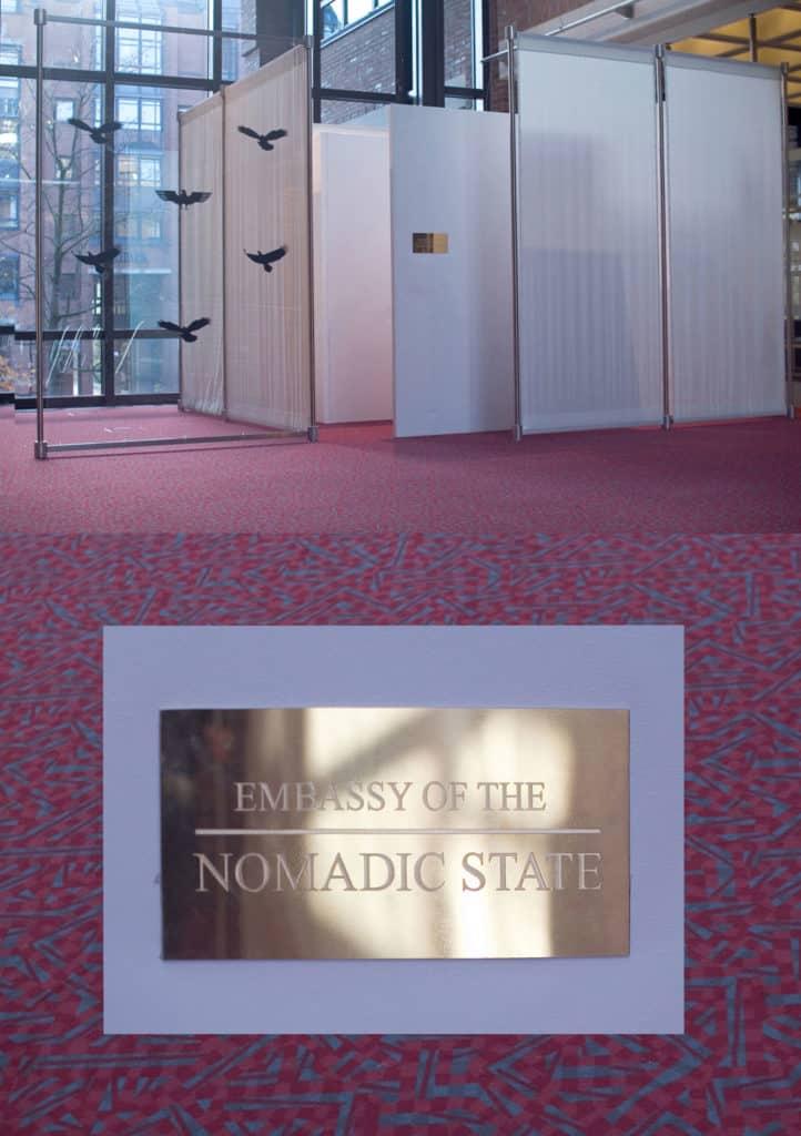 """Temporary embassy of the Nomadic State"", Spielart Festival Munich 2015"