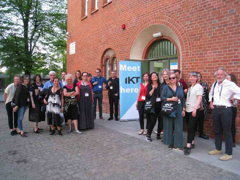 IKT memebers in front of the Laznia 2 during first day of the IKT International Association of Curators of Contemporary Art, 2018, photo Helena Szczepańska