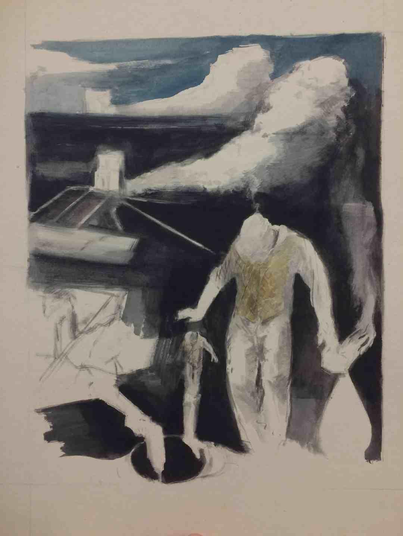 History, 33 x 46 cm, gwasz na papierze, 2018