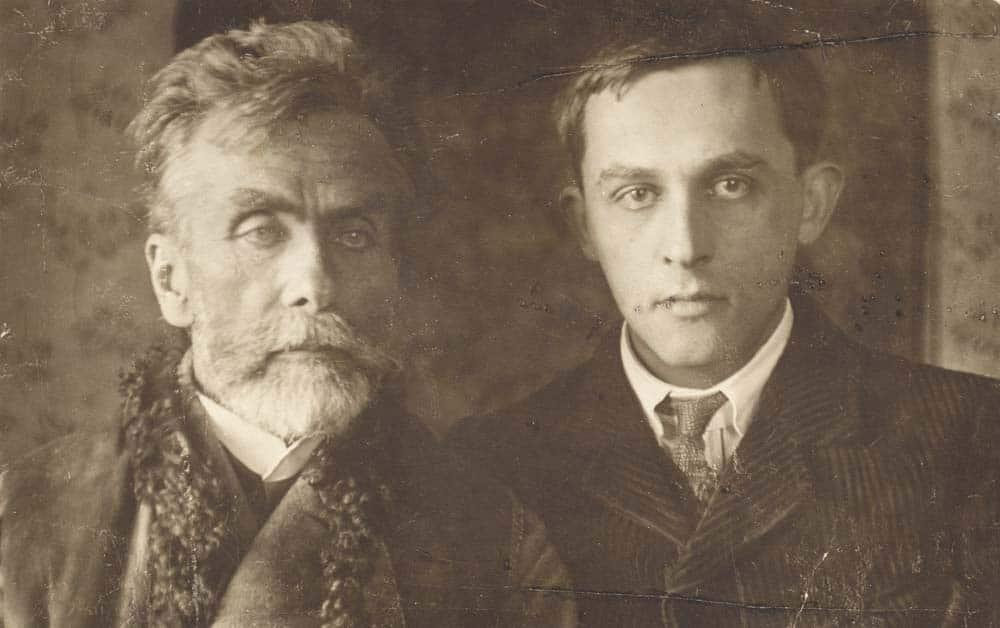 Stanisław Ignacy Witkiewicz (Witkacy) with his father, photo courtesy of the Library of Tatrzańskie Muzeum in Zakopane