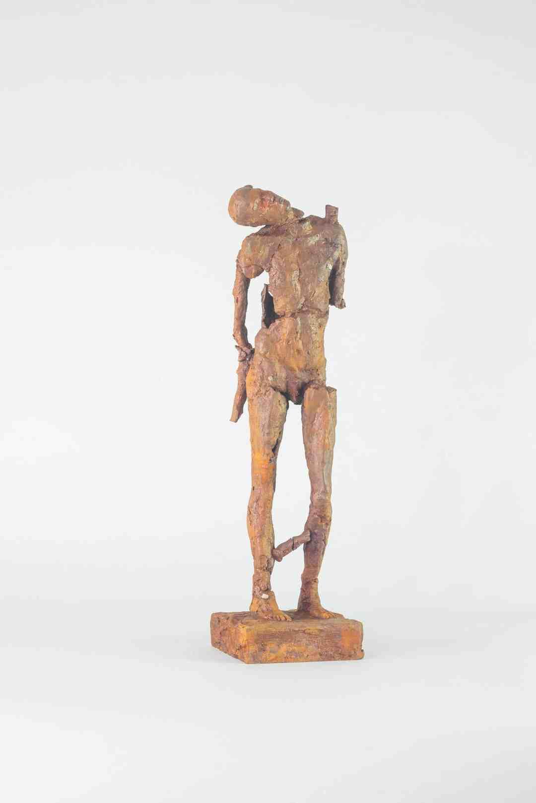 Paweł Otwinowski, Wracając od Ewy, cast iron, 12,5 x 11 x 44 cm