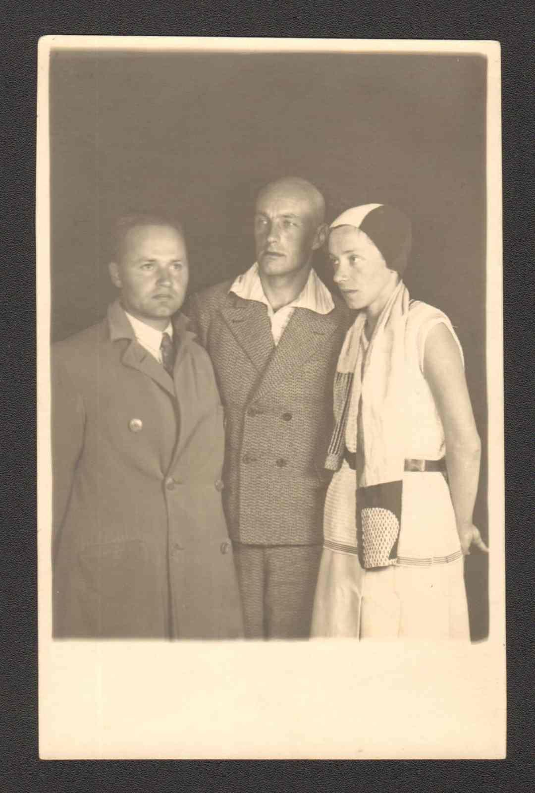 J. Przybos, W. Strzeminski, K. Kobro, vers 1930 © Archive Muzeum Sztuki, Lodz