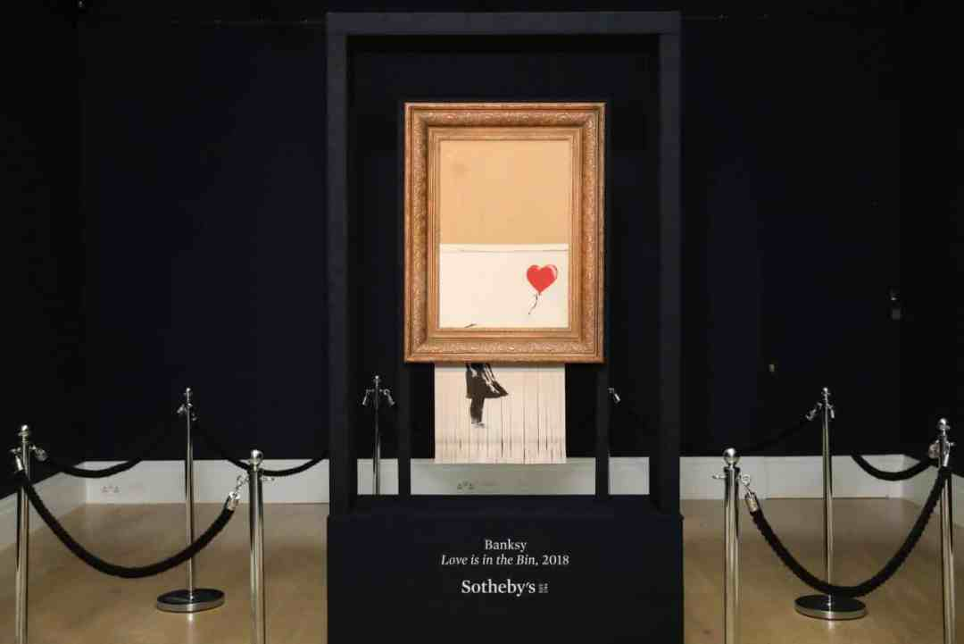 Banksy Declares Shredded Piece is a New Work of Art, Photo Courtesy Sotheby's