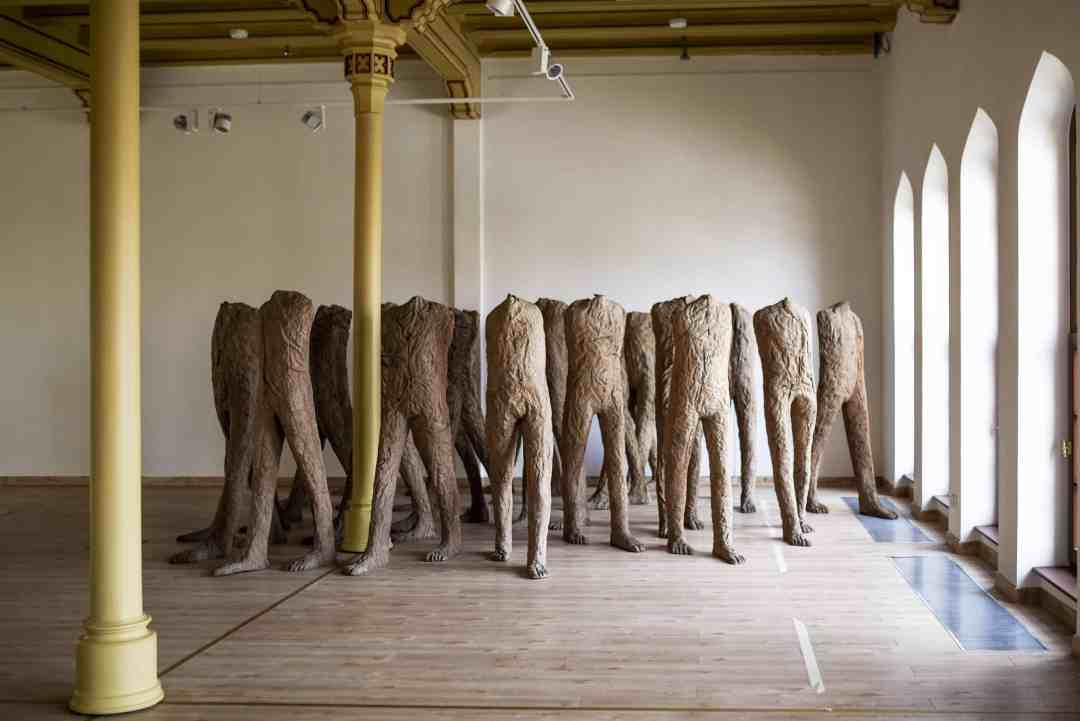 Magdalena Abakanowicz, 'Walking Figures', 2000, Burlap and resin, 21 figures approx. 168 x 51 x 36 cm, photo courtesy of the artist estate.