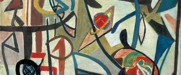 Bogusław Szwacz, Composition, 1948, oil, canvas, photograph by Zygmunt Gajewski