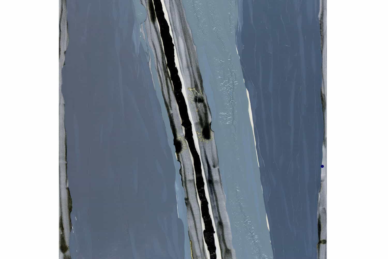 Bożenna Biskupska, Slit Cage, 2008, 150 x 100 cm , oil on canvas (detail)