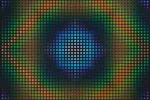 18. Birth of the star II, acrylic on canvas, 100 x 100 cm