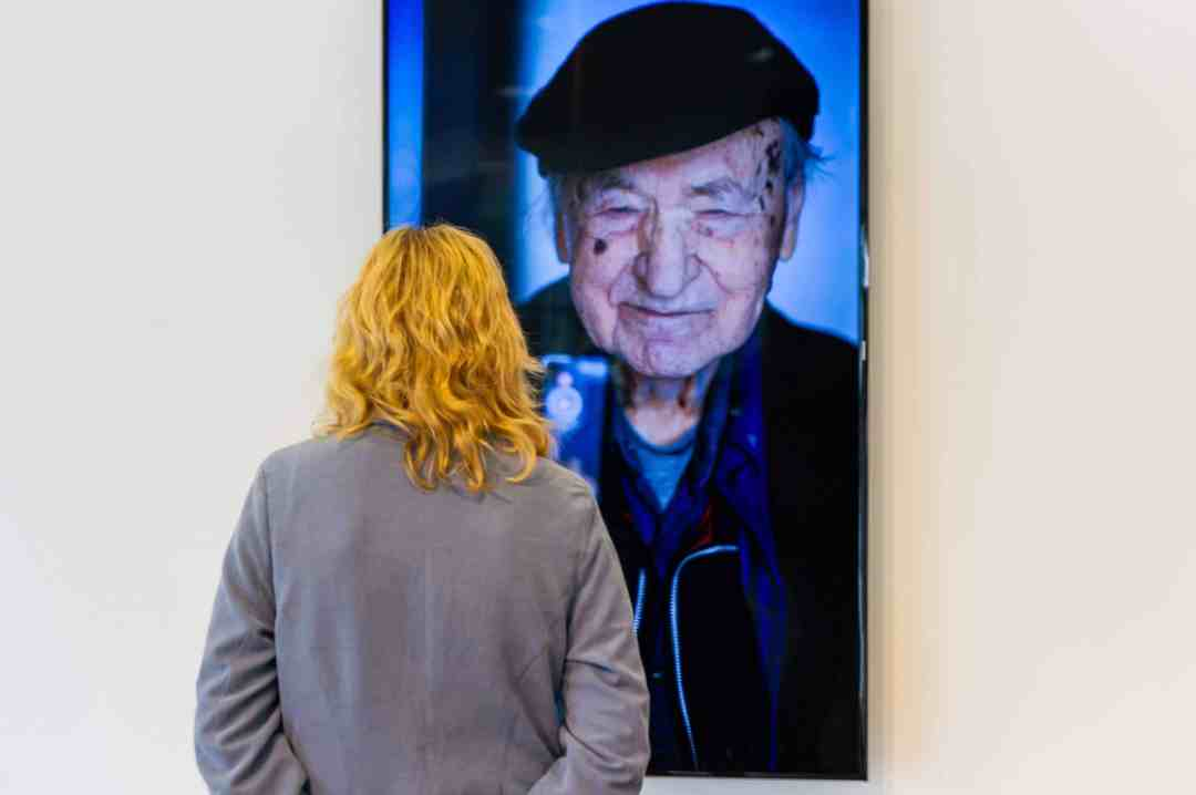Videoinstallation Jonas Mekas, Poets never sleep (2017), photo by Audra Vau
