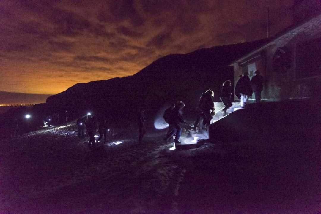 Eniterly hollow aside from the dark, Portrane event, courtesy: Brian Cregan